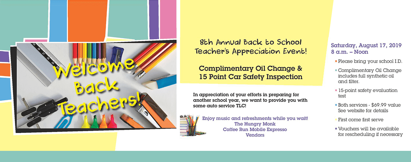 Back to School Appreciation Event | Desert Car Care of Chandler