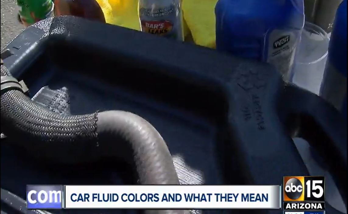 Auto Fluid Leaks Traced by Color