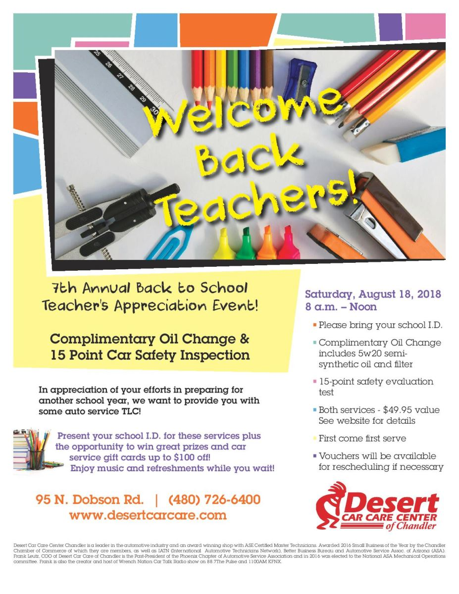 7th Annual Back to School Teacher Appreciation Event